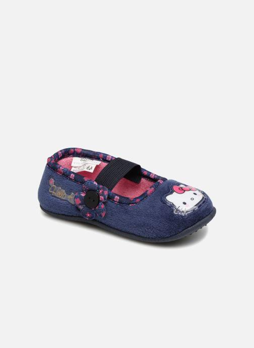 Chaussons Hello Kitty Ladie Bleu vue détail/paire
