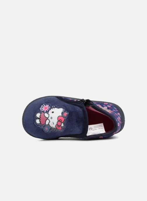 Slippers Hello Kitty Lagon Blue view from the left