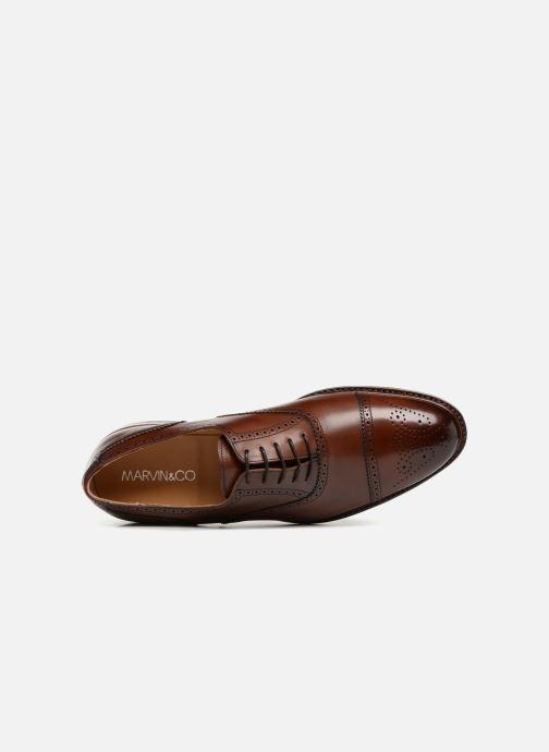 Zapatos con cordones Marvin&Co Luxe Walsham - Cousu Goodyear Marrón vista lateral izquierda