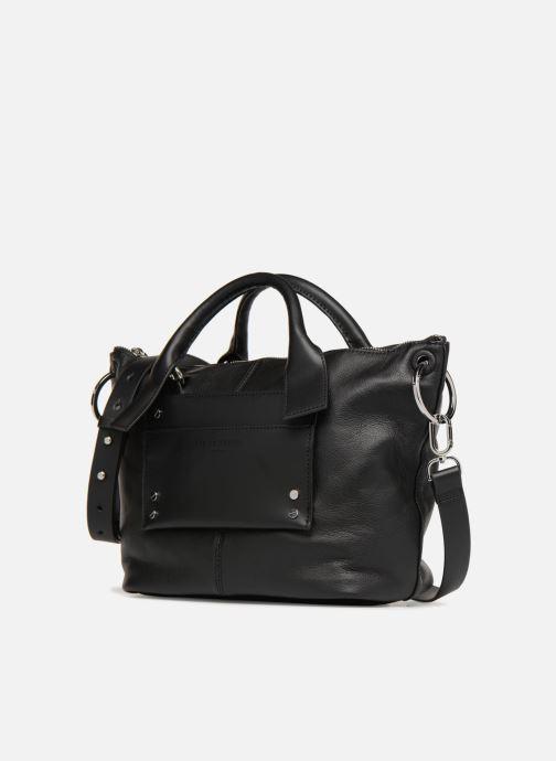 Handtaschen Liebeskind Berlin Satchel M schwarz schuhe getragen