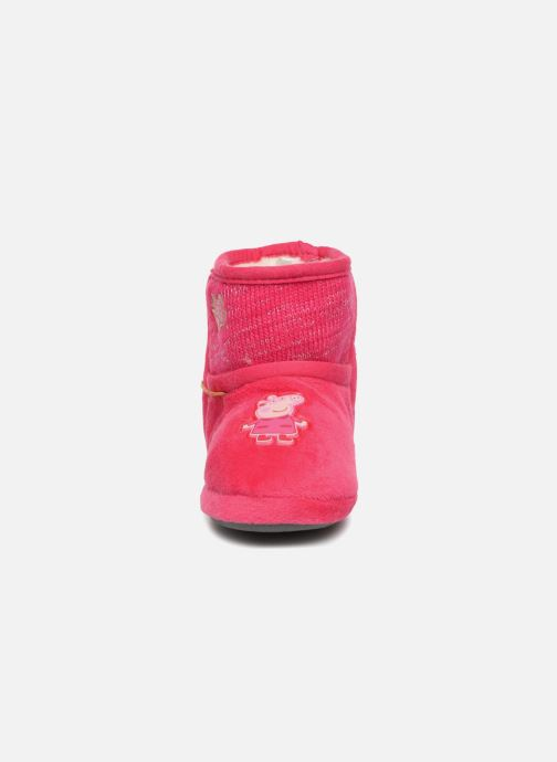 Chaussons Peppa Pig Roxane Rose vue portées chaussures