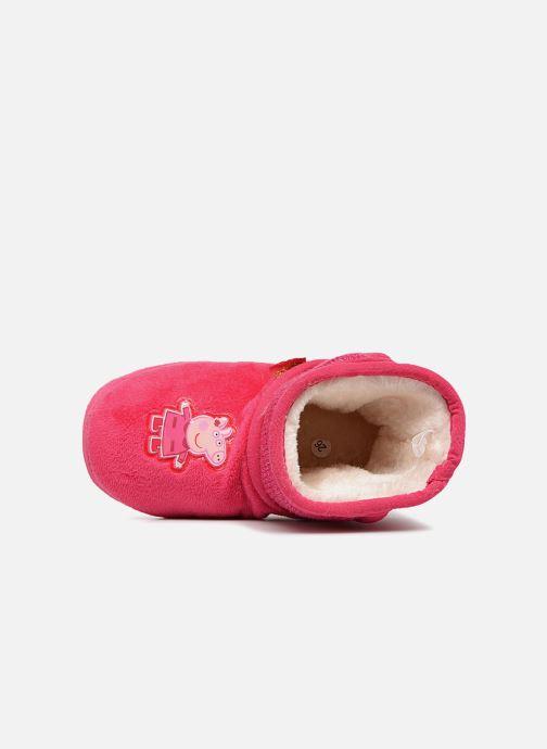 Hausschuhe Peppa Pig Roxane rosa ansicht von links