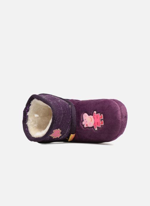 Pantofole Peppa Pig Roxane Viola immagine sinistra