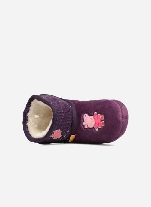 Pantuflas Peppa Pig Roxane Violeta      vista lateral izquierda