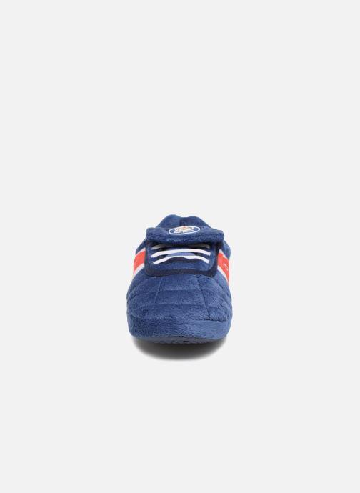 Hausschuhe PSG Alban blau schuhe getragen