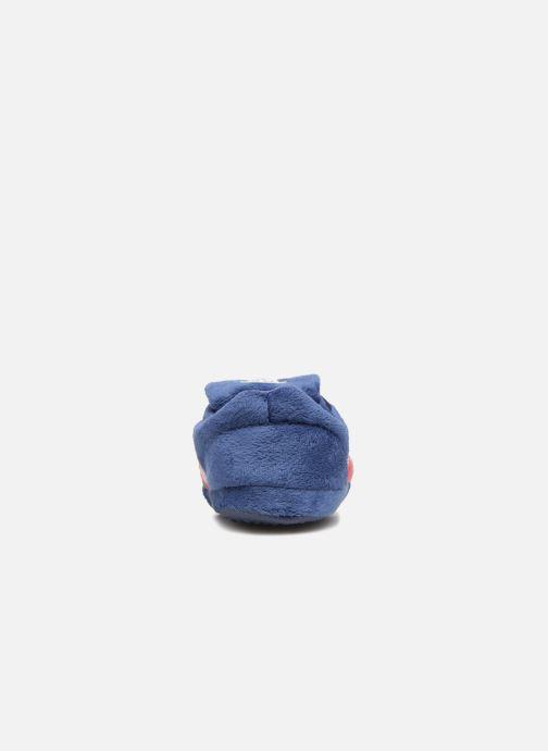 Pantuflas PSG Alban Azul vista lateral derecha