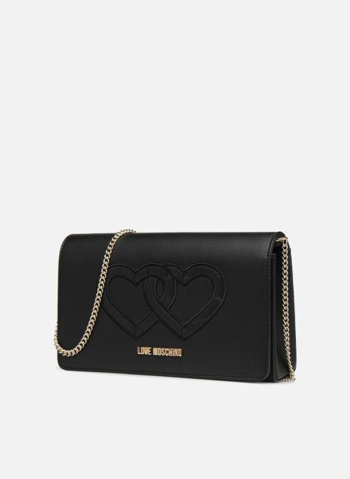 Handtassen Love Moschino Crossbody Double Heart Zwart model