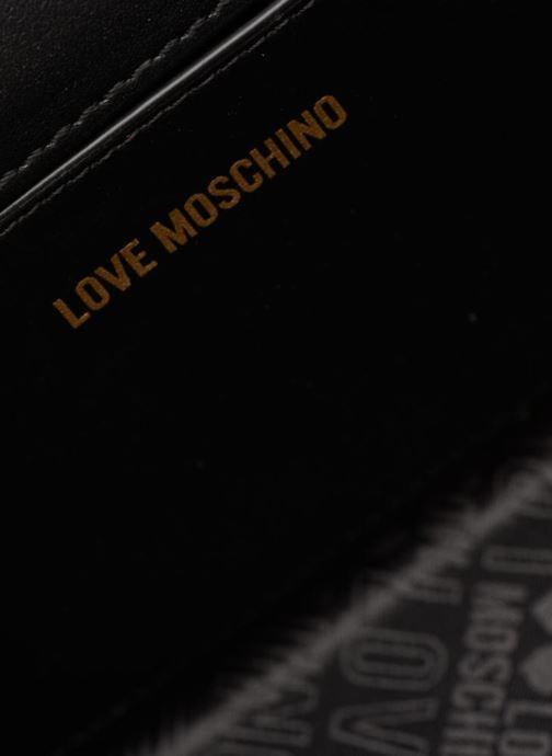 Handtassen Love Moschino Crossbody Double Heart Zwart achterkant