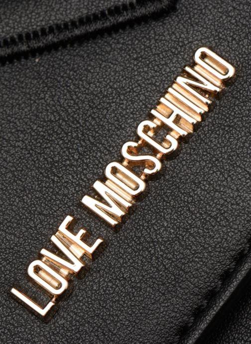 Handtassen Love Moschino Crossbody Double Heart Zwart links