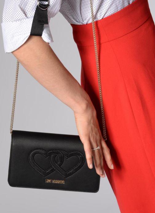 Handtassen Love Moschino Crossbody Double Heart Zwart onder