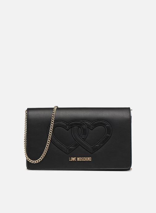Handtassen Love Moschino Crossbody Double Heart Zwart detail