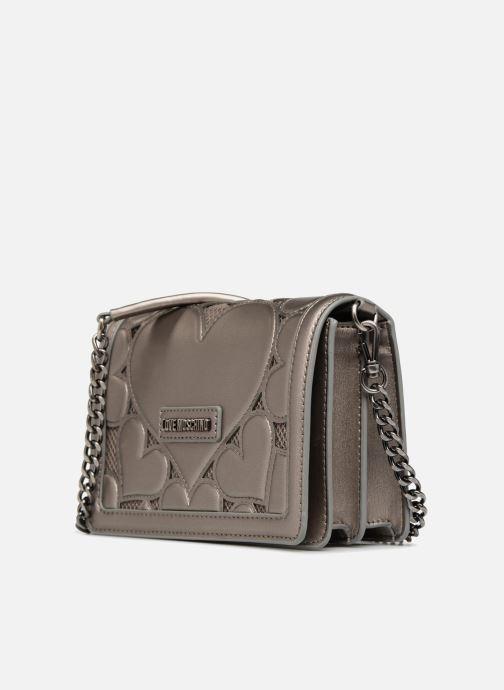 Handtaschen Love Moschino Crossbody Metallic Love silber schuhe getragen