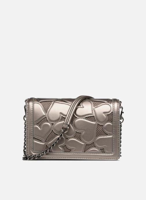 Handtaschen Love Moschino Crossbody Metallic Love silber ansicht von vorne