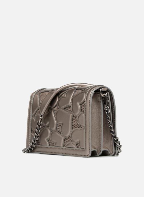 Handtaschen Love Moschino Crossbody Metallic Love silber ansicht von rechts