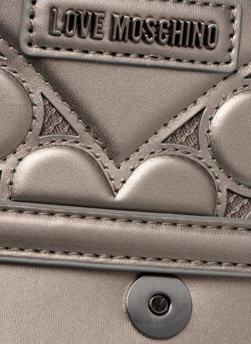 Handtaschen Love Moschino Crossbody Metallic Love silber ansicht von links