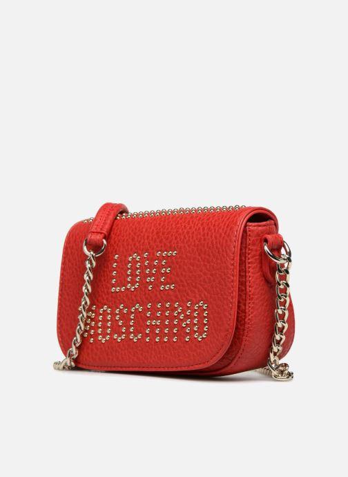 Handtaschen Love Moschino Crossbody Love Studs rot schuhe getragen
