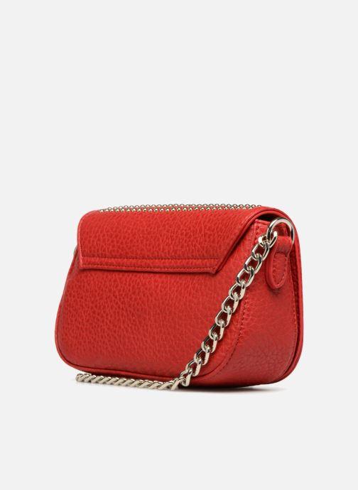 Handtaschen Love Moschino Crossbody Love Studs rot ansicht von rechts