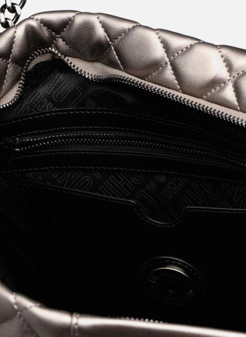 Bolsos de mano Love Moschino Cabas Metallic Super Quilted Plateado vistra trasera
