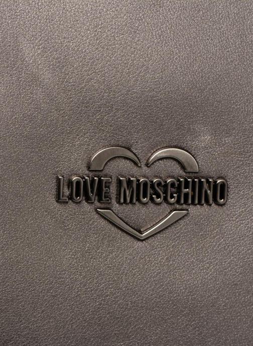 Bolsos de mano Love Moschino Cabas Metallic Super Quilted Plateado vista lateral izquierda
