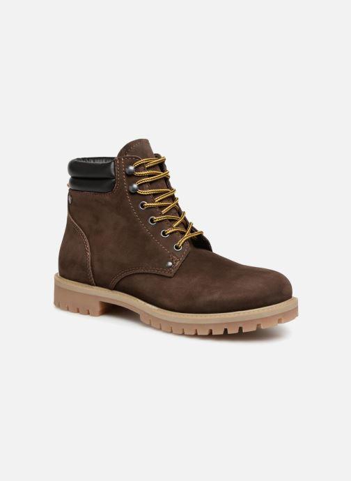 Bottines et boots Jack & Jones JFWSTOKE NUBUCK BOOT NOOS Marron vue détail/paire
