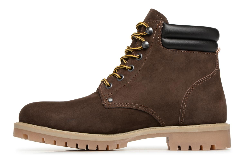 Stiefeletten & Boots Jack & Jones JFWSTOKE NUBUCK BOOT NOOS braun ansicht von vorne