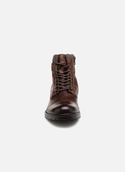 Bottines et boots Jack & Jones JFWALBANY Marron vue portées chaussures