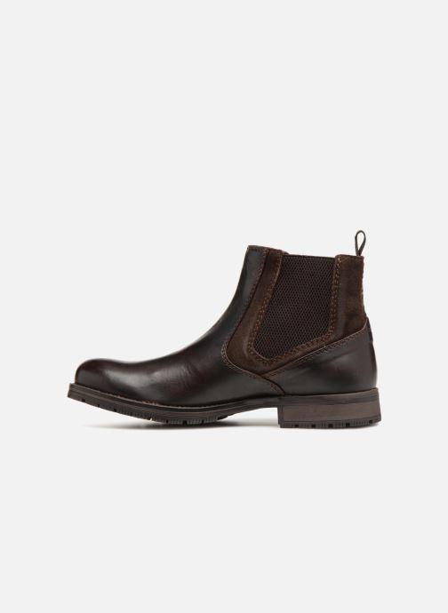Stiefeletten & Boots Jack & Jones JFWCARSTON COMBO  CHELSEA schwarz ansicht von vorne
