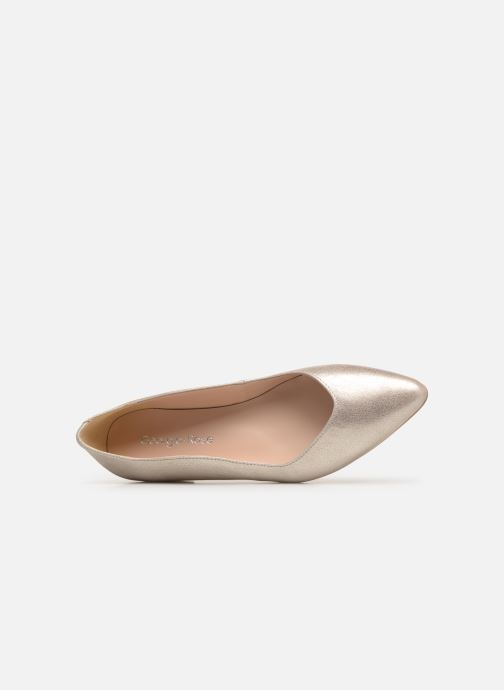 Ballerines Georgia Rose Sawave Or et bronze vue gauche