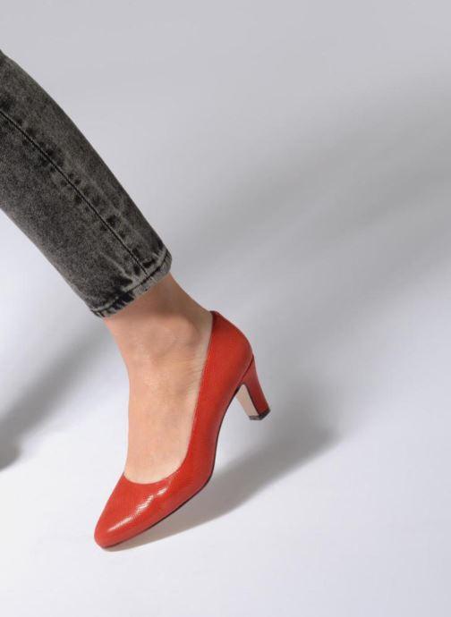 Zapatos de tacón Georgia Rose Suzet Rojo vista de abajo