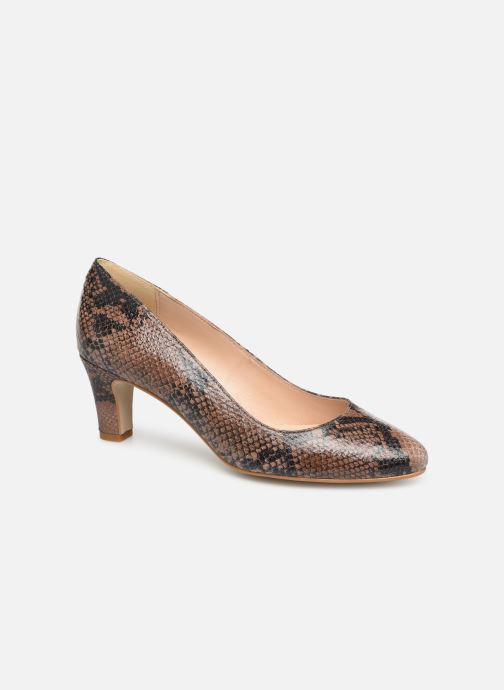 High heels Georgia Rose Suzet Brown detailed view/ Pair view