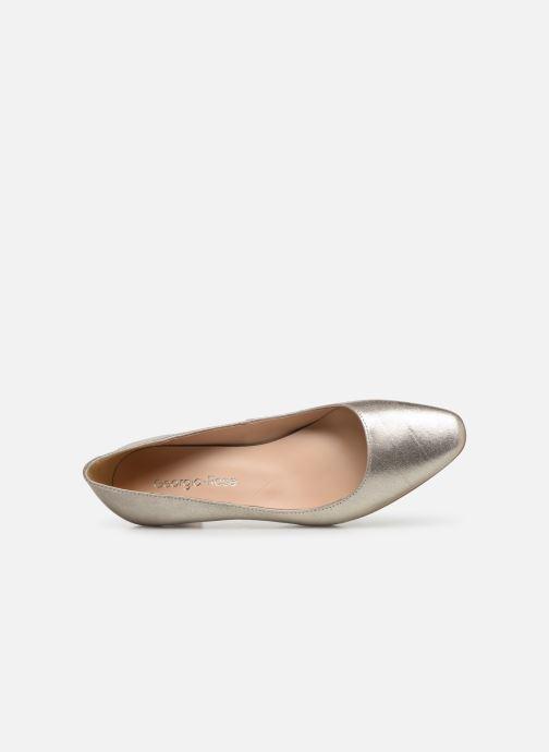 Zapatos de tacón Georgia Rose Satrot Oro y bronce vista lateral izquierda