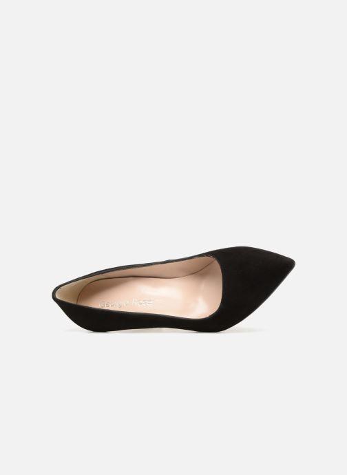 Zapatos de tacón Georgia Rose Sunseta Negro vista lateral izquierda