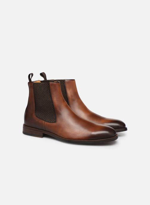 Bottines et boots Marvin&Co Luxe Plaidrow - Cousu Blake Marron vue 3/4