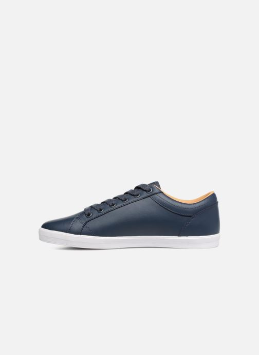 Baskets Fred Perry Baseline Leather Bleu vue face