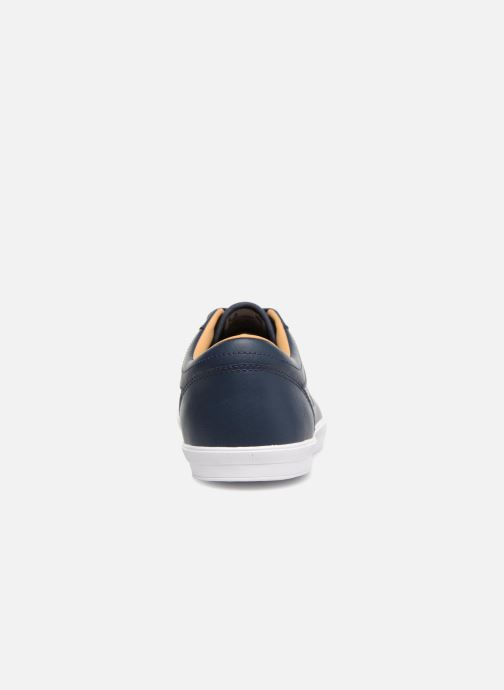 Baskets Fred Perry Baseline Leather Bleu vue droite