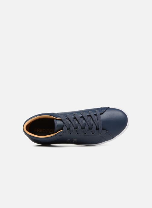 Baskets Fred Perry Baseline Leather Bleu vue gauche