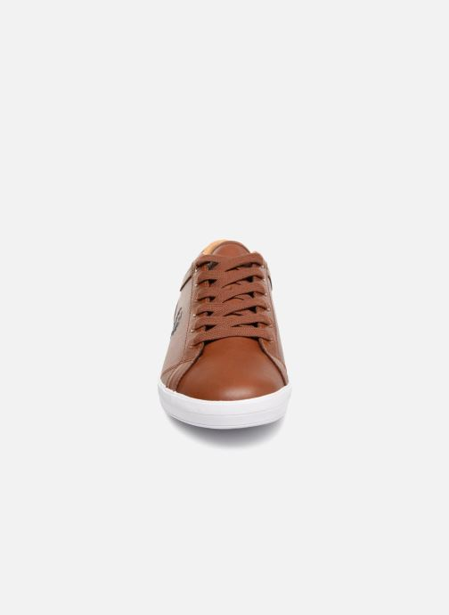 Baskets Fred Perry Baseline Leather Marron vue portées chaussures
