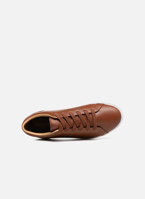 Chez Leather Perry marron Baseline 332231 Baskets Fred xqAw871znz