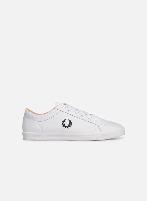 Baskets Fred Perry Baseline Leather Blanc vue derrière