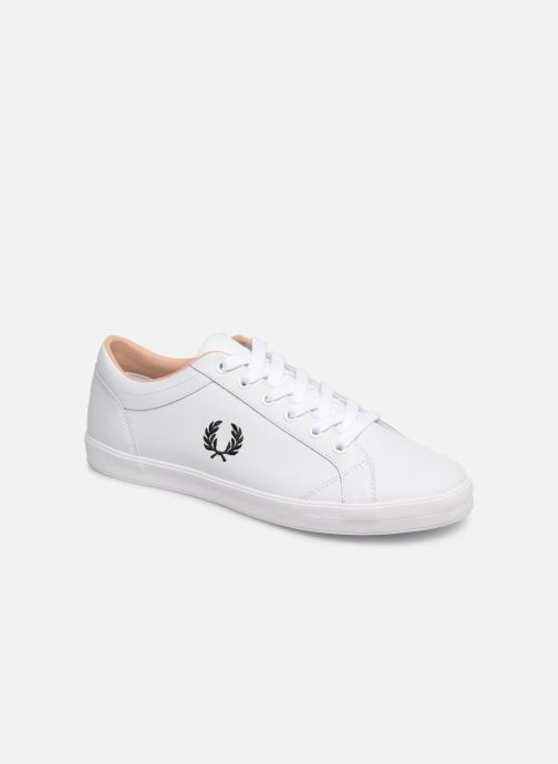 Baskets Fred Perry Baseline Leather Blanc vue détail/paire