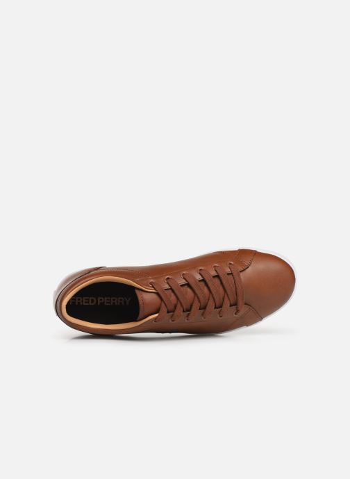 Baskets Fred Perry Baseline Leather Marron vue gauche