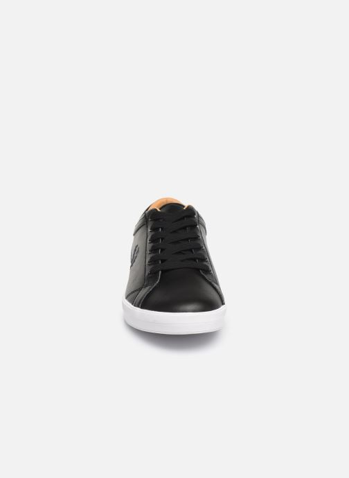 Baskets Fred Perry Baseline Leather Noir vue portées chaussures