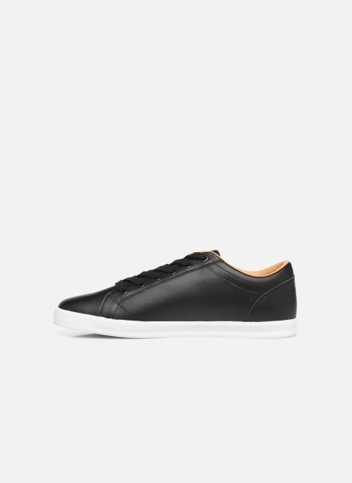 Baskets Fred Perry Baseline Leather Noir vue face