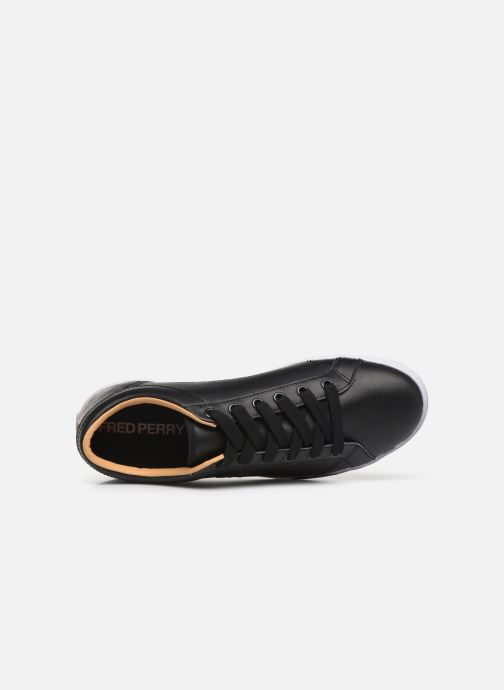 Baskets Fred Perry Baseline Leather Noir vue gauche