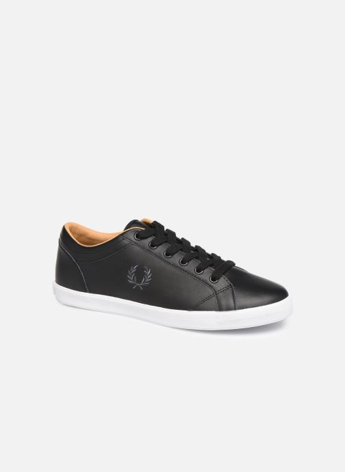 Baskets Fred Perry Baseline Leather Noir vue détail/paire