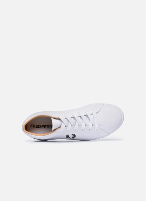 Baskets Fred Perry Baseline Leather Blanc vue gauche