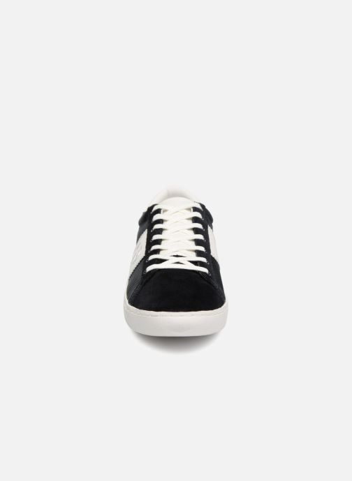 Baskets Fred Perry Spencer Polyester Leather Bleu vue portées chaussures