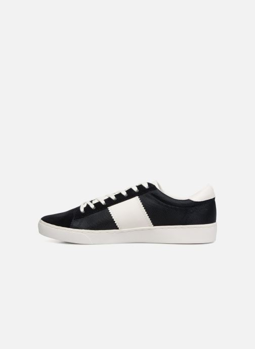 Baskets Fred Perry Spencer Polyester Leather Bleu vue face