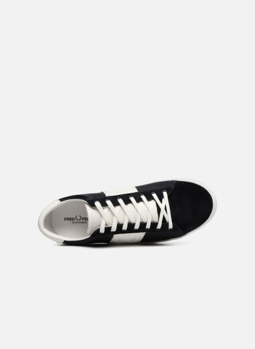 Baskets Fred Perry Spencer Polyester Leather Bleu vue gauche