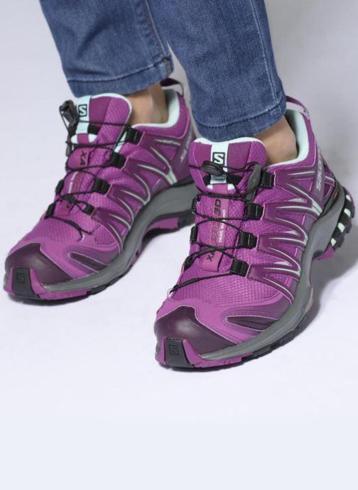 Chaussures de sport Salomon XA PRO 3D GTX® W Violet vue bas / vue portée sac